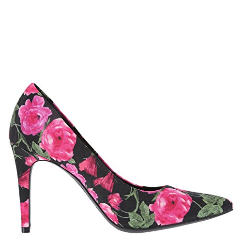 Pointed Payless Habit Floral Pump Siriano Women's Christian for Black Pink EnwxqACXCZ