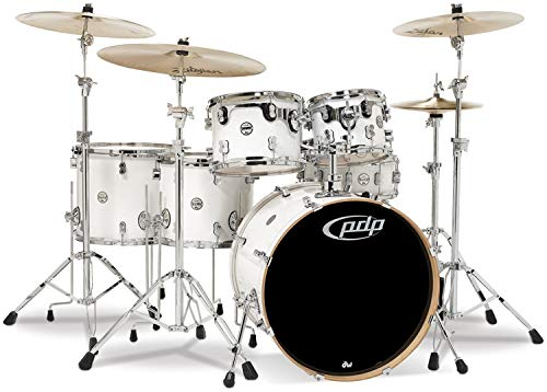 Pacific Drums PDCM2216PW 6-Piece Drumset with Chrome for sale  Delivered anywhere in USA