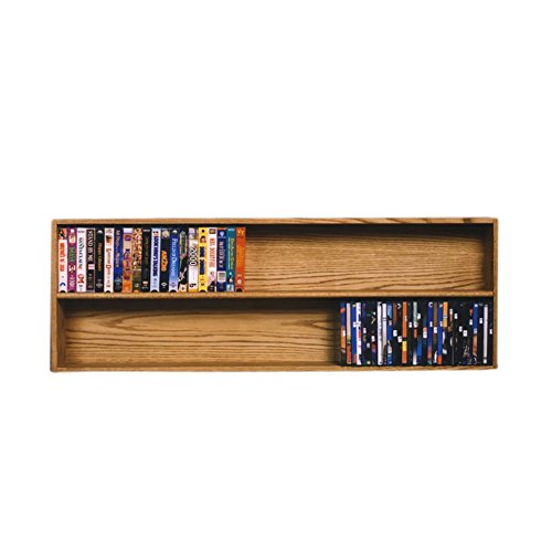(Cdracks Media Furniture Solid Oak Wall or Shelf Mount DVD/VHS Tape/Book Cabinet Honey Finish 208-4 W)