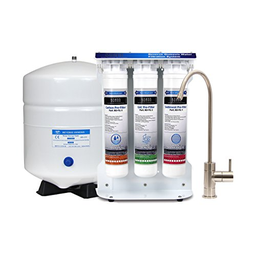 BOANN BNROSYS 5-Stage Reverse Osmosis Water Filter System with Quick-Twist Filters
