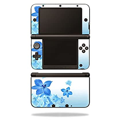 MightySkins Protective Vinyl Skin Decal Cover for Nintendo 3DS XL Original (2012-2014 Models) Sticker Wrap Skins Blue Flowers