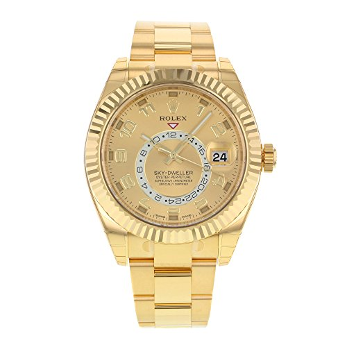 NEW Rolex Sky Dweller 18K Yellow Gold Mens watch 326938 - 18k Yellow Gold Diamond Watch