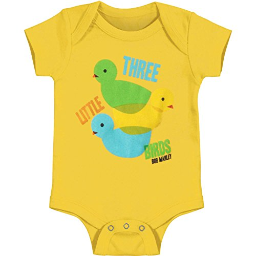 Bob Marley Baby Boys' 3 Lil Birds Color Theory Bodysuit 6 - 12 Months Yellow ()