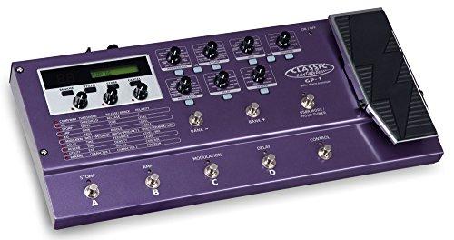 Classic Cantabile GP-1 Gitarren Multieffektgerät (solides Metallgehäuse, Kopfhörerausgang, 8 solide Trittschalter, 15 Preset Bänke mit jeweils 4 vorgefertigten Sounds) violett
