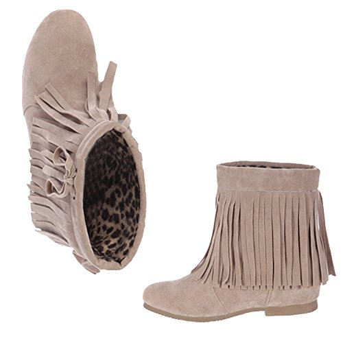 Synthetic Heel Women's Internal Nonbrand Beige Boots Heel Ankle wHR1pxxqnf