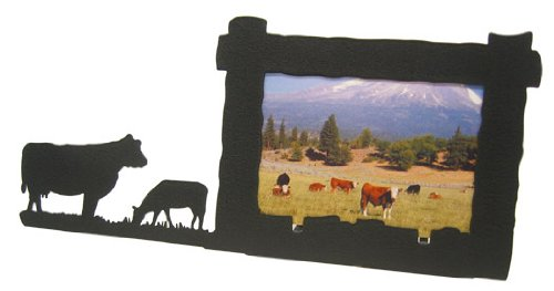 Cattle Cow & Calf 4X6 Horizontal Picture Frame by Innovative Fabricators, Inc.