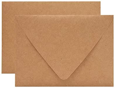 Supla 150 Pcs A7 Envelopes Brown Kraft Invitation Envelopes 5 x 7 Envelopes Self Seal Business Envelopes Photo Envelopes Greeting Card Blank Envelopes for Weddings Invitations Baby Shower Stationery