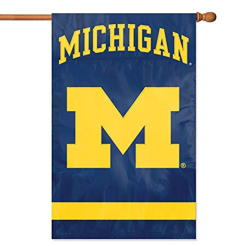 Michigan College Applique - Party Animal Michigan Wolverines Banner College Flag