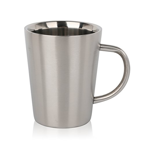 Housavvy Classic Double-Wall Stainless Steel Coffee Mug - 12 Oz
