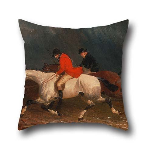 Jr Twin Chair Cover (Throw Pillow Covers 20 X 20 Inches / 50 By 50 Cm(each Side) Nice Choice For Club,chair,kids,christmas,living Room,bedding Oil Painting John Frederick Herring Jr. - Returning From The)