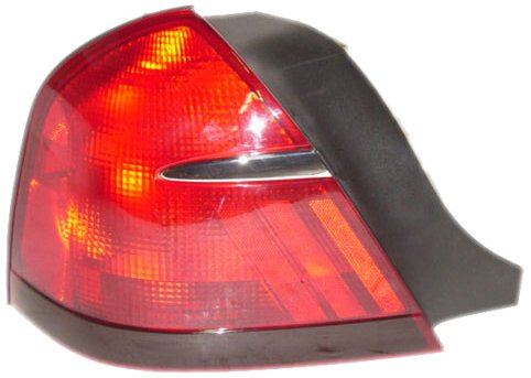 OE Replacement Mercury Grand Marquis Driver Side Taillight Lens/Housing (Partslink Number FO2818124) (Drivers Marquis Grand Tail Side)