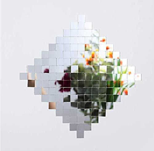 SATINIOR 800 Pieces Self-Adhesive Mini Square Glass, Decorative Craft DIY Accessory Mirrors Mosaic Tiles, 1 x 1 cm ()