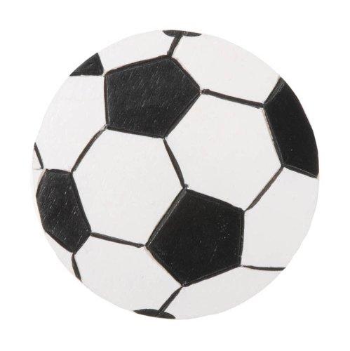 Darice 9199-56 Layered Natural Painted Wood Cutout, Soccer Ball