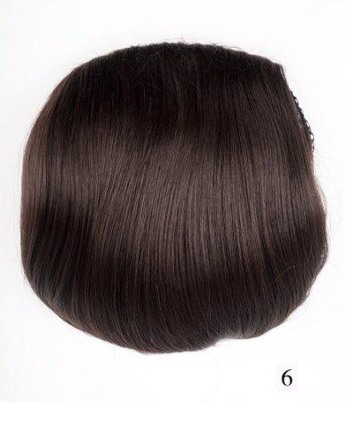 Prettyland TG054 - Haarteil glatt Haarknote offener Hepburn-Dutt 26cm 67G - 06 natur dunkelbraun