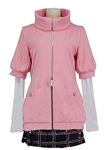 LYLAS Women's Halloween Pink Uniform Full Set Cosplay Costume (Female-XL)