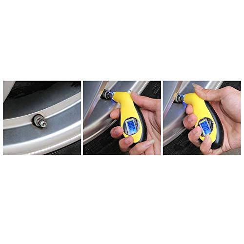 Pouybie Testeur de Pression des pneus Mini compresseurs dair Portables Jauge de Pression des pneus de Voiture