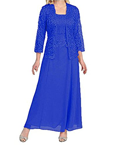 Linabridal Women's Lace Mother of The Bride Dresses Tea Length with Jacket