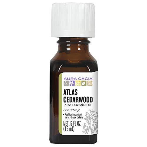 Aura Cacia Pure Atlas Cedarwood Essential Oil | 0.5 fl. oz. | Cedrus atlantica