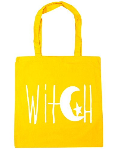 Crescent Star Moon Bag 42cm Design Beach litres Witch Gym Shopping 10 x38cm Tote Yellow and HippoWarehouse BTqw5xRa4