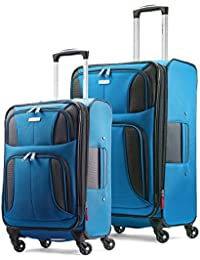 Aspire Xlite Softside Expandable Luggage with Spinner Wheels, Blue Dream, 2-Piece Set (20/25)