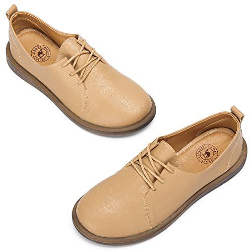 Abricot 36 Chaussures CAMEL CROWN Cuir Lacets Plate Derbies Beige Doux Automne Abricot 40EU à Loisir Confortable Chaussure Noir Femme aRqaHO