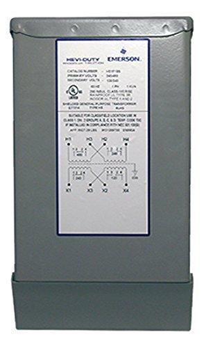 "SolaHD HS1F500B Non-Ventilated Automation Transformer, 1 Phase, Encapsulated, 0.5 kVA, 240/480V - 120/240V, 2.08/1.04 Amp, 60 Hz, 10"" Height, 6"" Width, 5"" Length,"