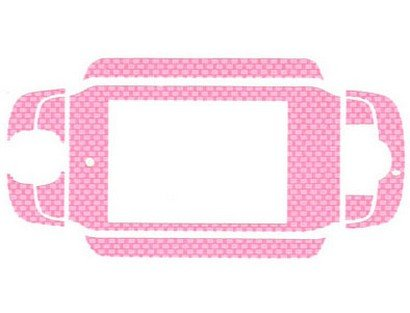 Vinyl Decal Pink Carbon Fiber Protector Skin and Screen Protector For T-Mobile Sidekick 3 III ()
