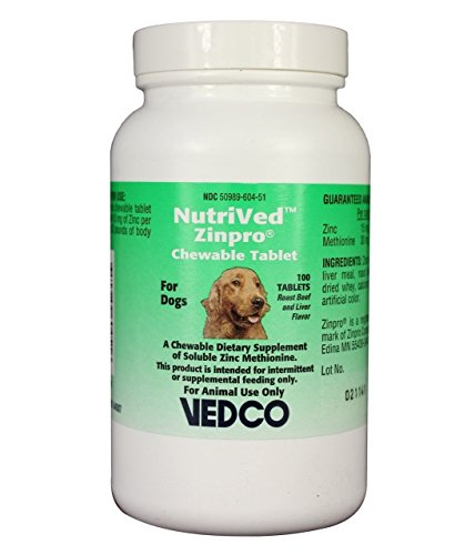 NutriVed ZinPro Chewable Tablets for Dogs (100 count) -