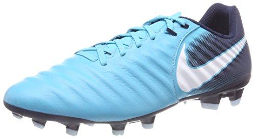 new photos a694d 4732f De blanc Homme Glacier Gamma bleu Fg Ligera Bleu Iv Chaussures bleu  Football Tiempo Nike Turquoise ...