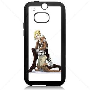 Shingeki no Kyojin Attack on Titan Manga Anime Comic For 2014 NEW HTC ONE 2 M8 TPU Black or White case (Black)