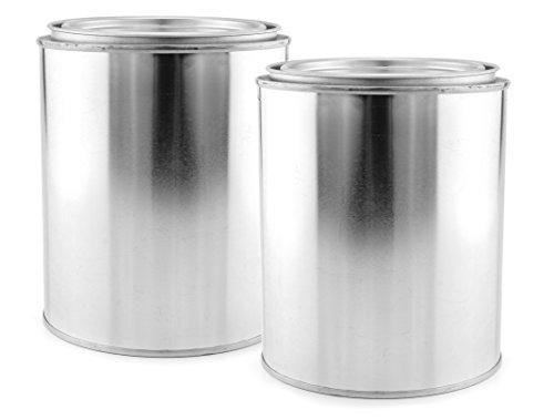 Empty Quart Paint Cans with Lids (2 Pack); Unlined Metal Paint Cans Value Pack