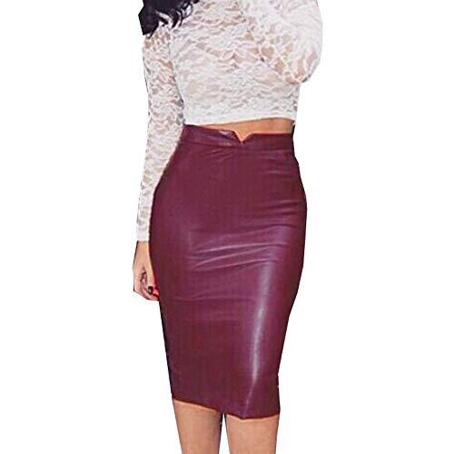 Damen Hosen Polyurethan-Leder Casual Volltonfarbe Slim Fit Neu Heißer Verkauf