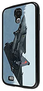 913 - Army jet fighter look Typhoon Design For Samsung Galaxy S4 i9400 Fashion Trend CASE Back COVER Plastic&Thin Metal - Black