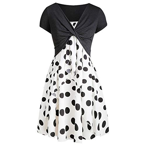 Missroo Cami Polka Dot Dress with Crop T-Shirt Black