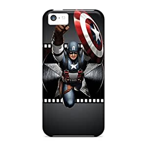 New Troy Love Super Strong Captain America Tpu Case Cover For Iphone 5c