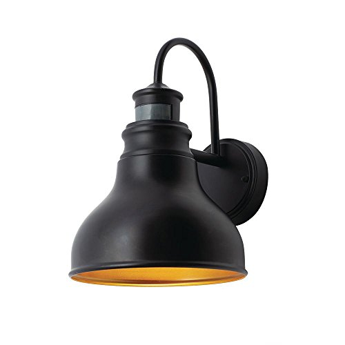 Home Decorators Collection Oil Rubbed Bronze Outdoor LED Motion Sensor Wall Lantern ()