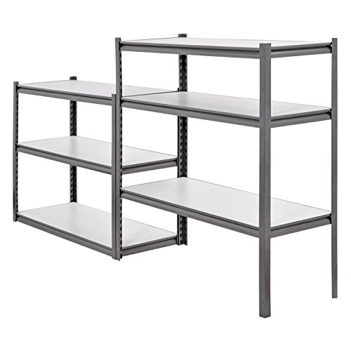 Muscle Rack UR4818HPSVL6 Boltless Storage Rack with 6 Shelves, 3000 lb Capacity, 48'' Width x 84'' Height x 18'' Depth, Silvervein by Muscle Rack (Image #3)