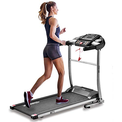 buyerfirst Easy Assembly Folding Electric Treadmill Motorized Running Machine (Silver and Black)