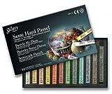 Mungyo Gallery Semi-Hard Pastels Cardboard Box Set of 36 - Assorted Colors