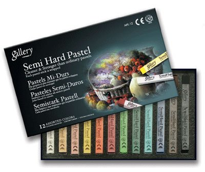 - Mungyo Gallery Semi-Hard Pastels Cardboard Box Set of 36 - Assorted Colors