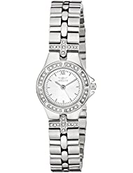 Invicta Womens 0132 Wildflower Collection Crystal Accented Stainless Steel Watch