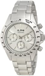 a_line Women's 20050-SL Amore Chronograph Silver Tone Aluminum Watch