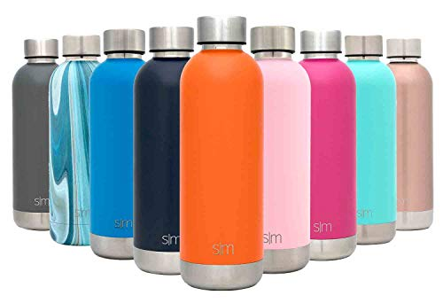 06c55c9f3d Simple Modern 17oz Bolt Water Bottle - Stainless Steel Hydro Swell Flask - Double  Wall Vacuum Insulated Reusable Orange Small Kids Metal Coffee Tumbler Leak  ...