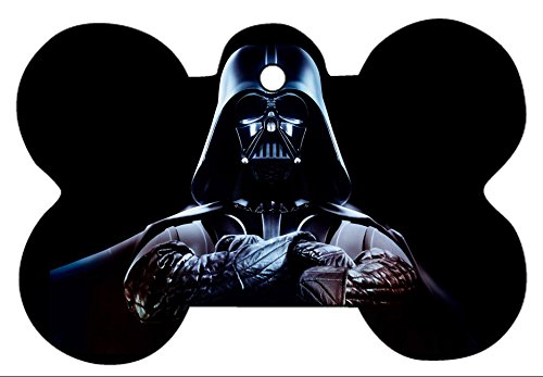 Star Wars Darth Vader Storm Tropper Custom Pet ID Dog Cat Tag Identification Personalize Photo Bone Shape with Key Ring (Darth Vader, -
