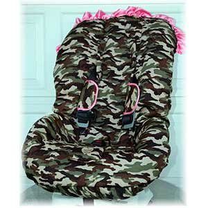 Daddy Camo Pink W Trim Toddler Car Seat Cover
