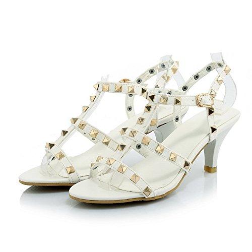 1To9 Sandales Pour Femme Blanc, 38.5 EU, MJS01294