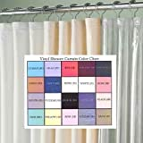 white and blue bath accesories - RL Plastics Vinyl Magnetic Shower Curtain Liner with Grommets, Pink