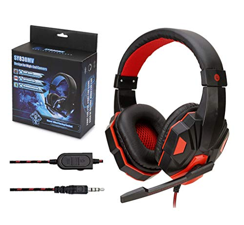 USB Wired Non-Luminous Stereo 3.5mm Gaming Headset Headphones with Mic for PS4/XBOXSY830