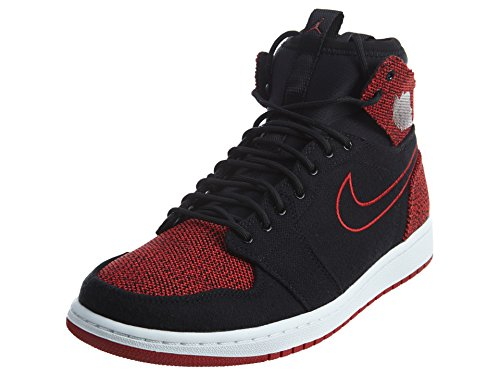 NIKE Jordan Men's Air Jordan 1 Retro Ultra High Black/Gym Red/Black/White Basketball Shoe 11 Men US by NIKE