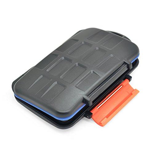 iProtect Schutzhülle für 4 CF Cards u. 8 Micro SD Karten u. 8 xD Karten Speicherkarten Hard Case Tasche schwarz
